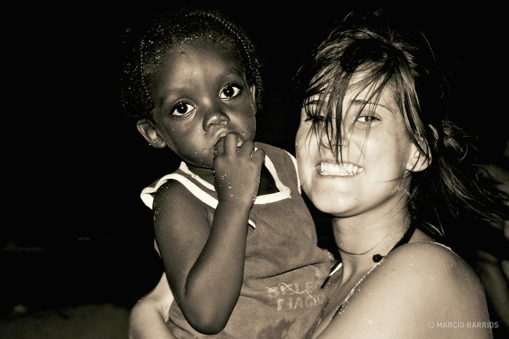Garifuna girl with my girlfriend