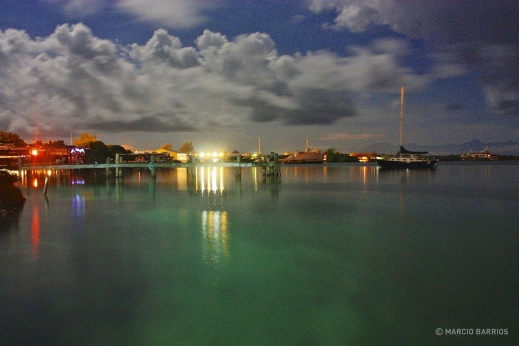 View of Sandy Bay at night