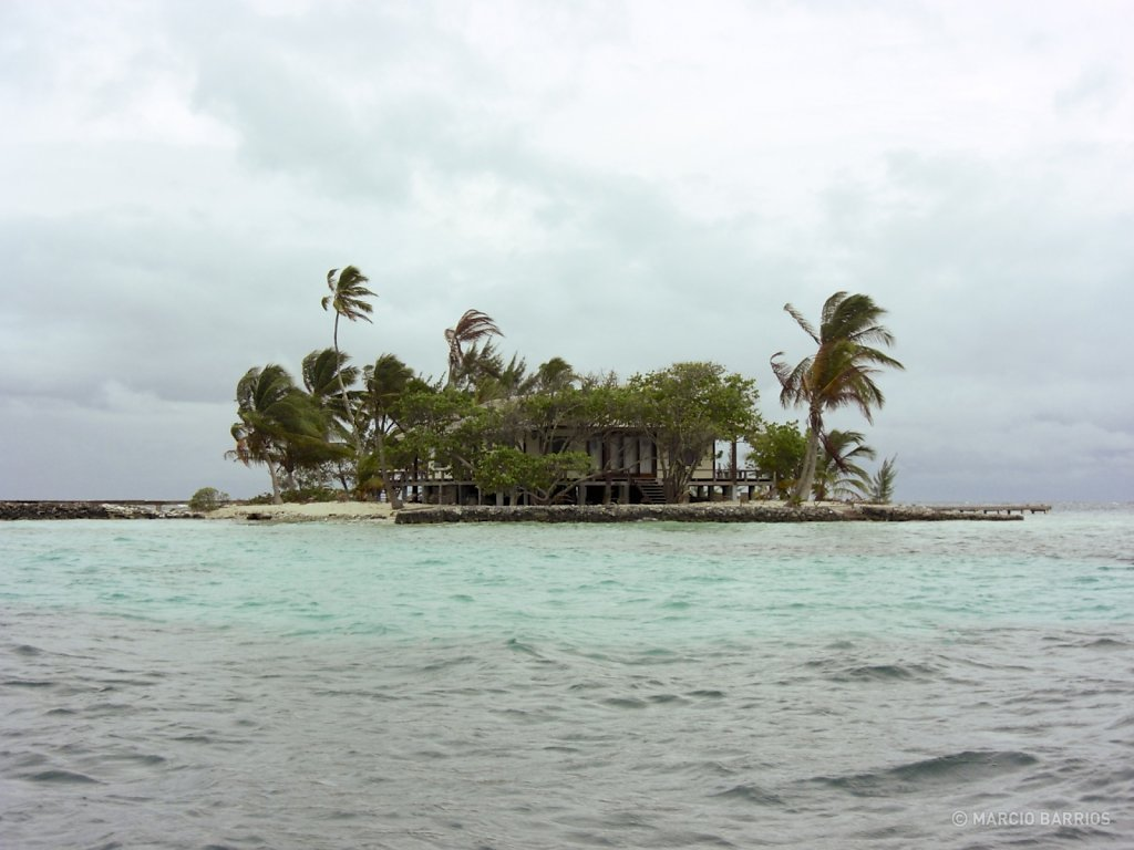 Small private island near Utila shore