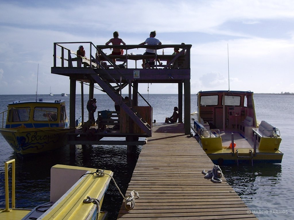 Utila Dive Center's dock