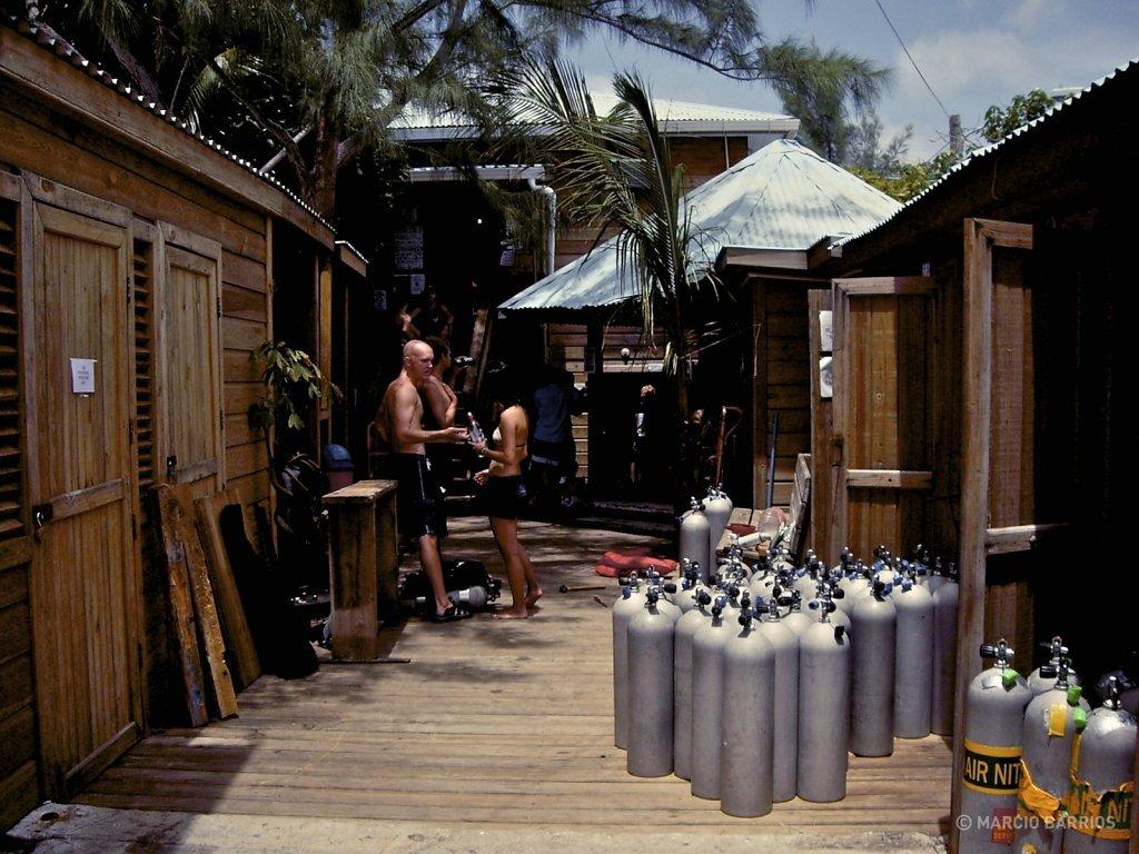 Utila Dive Center's dock