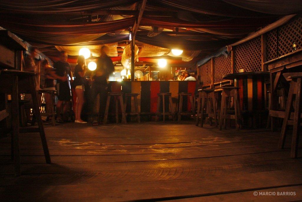 Tranquila bar's dock