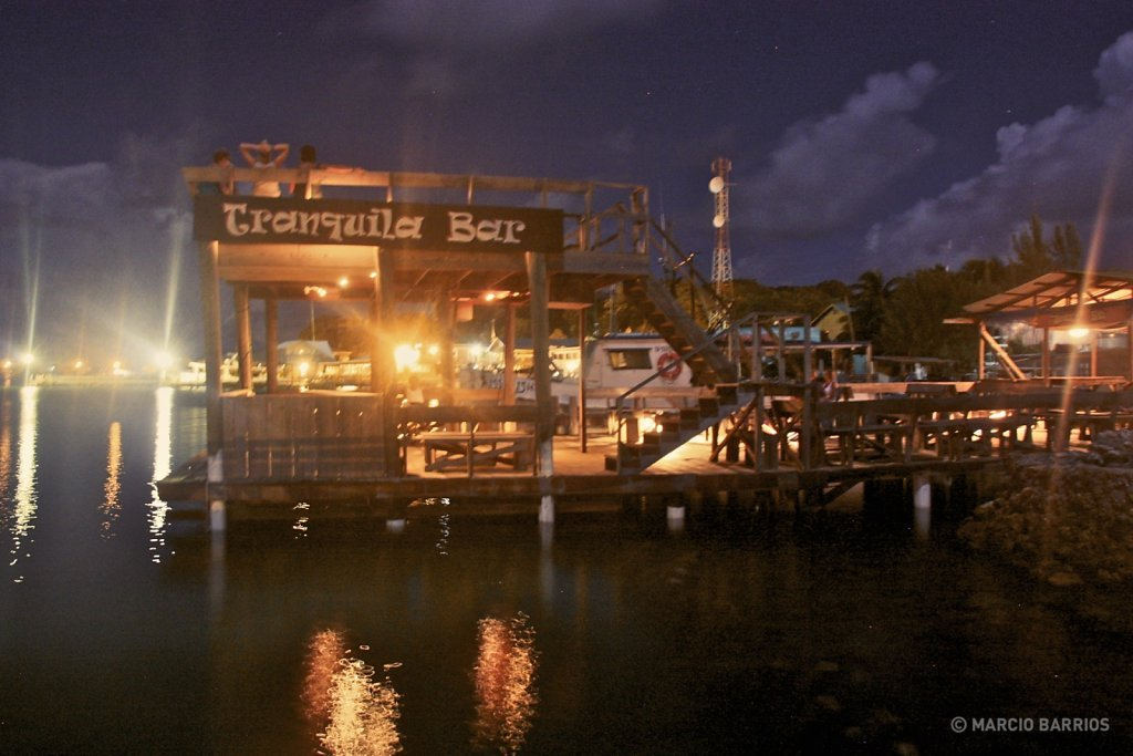 Tranquila bar's dock