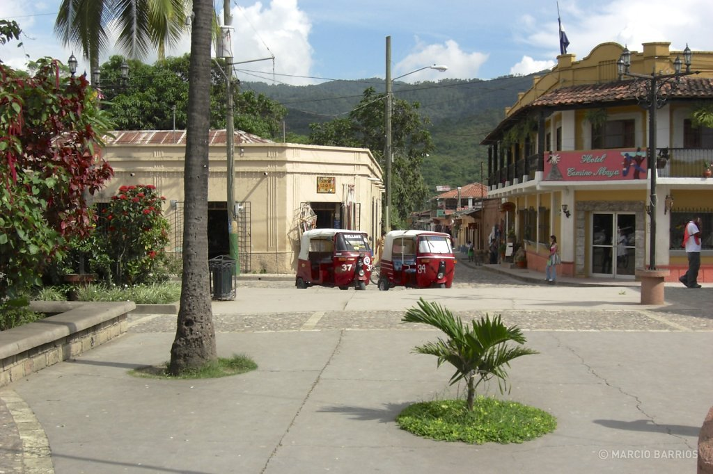 Main square of Copán Ruinas village