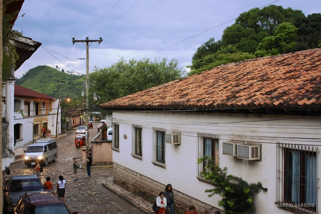 Road of Copán Ruinas village